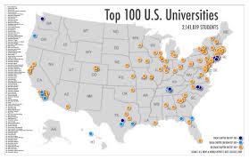 map us colleges us college reference map 1400 top colleges in