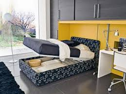 Grey Bedroom Black Furniture Grey Bunk Bed With Black White Bed Sheet Connected By Blue Wall
