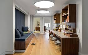 dark wood bench home office contemporary with under bench storage
