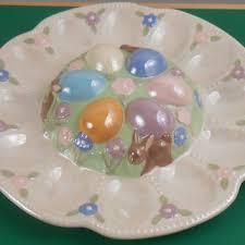 antique deviled egg plate shop vintage easter eggs on wanelo