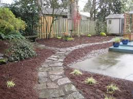 Backyard Ground Cover Ideas Friendly Back Yard Scaped Yards Pinterest Yards