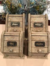 canister sets for kitchen wood kitchen canister sets ebay