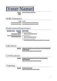 Plain Resume Template Free Blank Resume Templates Thebridgesummit Co