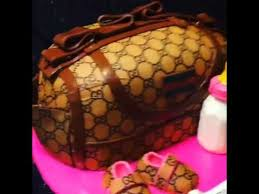 Gucci Baby Shower Diaper Bag Cake Youtube Decorated Cakes
