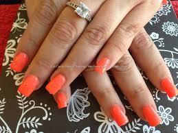 eye candy nails u0026 training acrylic nails with bright orange