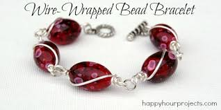 beading wire bracelet images Wire wrapped bead bracelet happy hour projects jpg