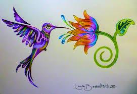 colibri y la flor del arco iri by lauraborealisis on deviantart