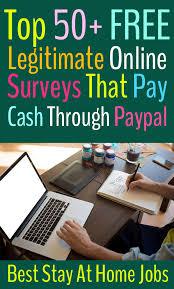 top 50 legitimate online surveys that pay cash through paypal