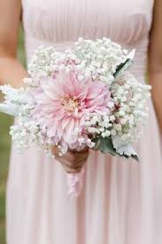 bridesmaid bouquet garden baby s breath and dusty miller bouquet petals