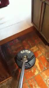 How To Clean Kitchen Floor by How To Clean A Brick Kitchen Floor Youtube