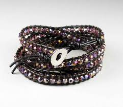 leather crystal bracelet images B gt purple ab crystal leather 39 wrap 39 bracelet lt b gt rhodium plated jpg