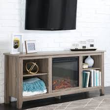 White Electric Fireplace With Bookcase Unfinished Wood Tv Stand With Fireplace With Led Screen Tv In