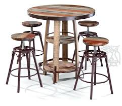 rustic pub table and chairs bistro table and stools set solid pine wood rustic bistro pub stool