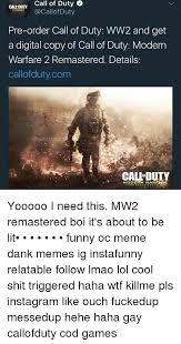 Funny Call Of Duty Memes - call of duty callofduty call duty pre order call of duty ww2 and