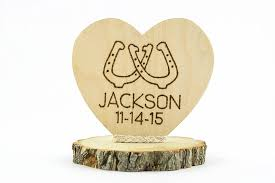 personalized horseshoes personalized horseshoes western cake topper wedding collectibles