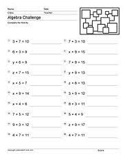 education world all about pre algebra worksheets print