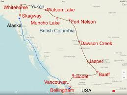 Map Of Canada And Usa by Canada U2013 Alaska An Addition To Pan American Highway Journey