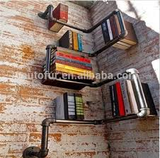 Industrial Pipe Bookcase Diy Industrial Urban Style Steel Pipe Shelf Storage Book Shelves