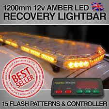 warning light bar amber new led light bar amber strobe beacon recovery 120cm 1200mm 1 2m