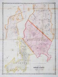 Map Of New Orleans Wards by A Large And Attractive Map Of 19th Century Newport Rhode Island