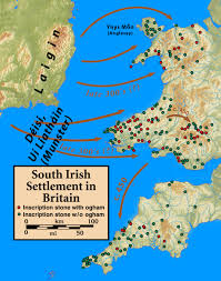 Map Of Wales England by Celtic Tribes Of Wales And Western England