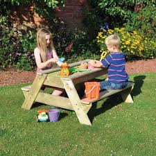 childrens bench and table set kids sandpit bench tj hughes