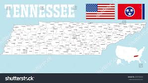County Map Of Tennessee by Large Detailed Map State Tennessee All Stock Vector 499730995