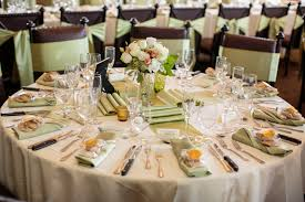 sage green table runner a sage green table runner and chair sashes along with peach and