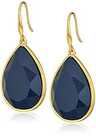 tear drop earrings ii gold navy teardrop earrings jewelry