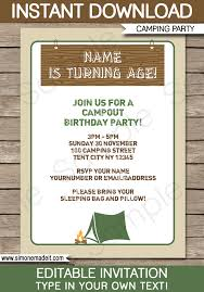 party invitation cing party invitations template birthday party