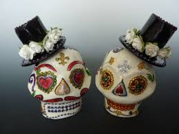 sugar skull cake topper buy a crafted sugar skull wedding cake topper made to order