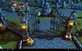 halloween cemetery 3d lwp android apps on google play