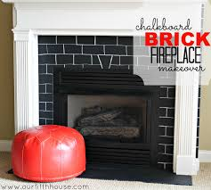 chalkboard brick fireplace makeover our fifth house