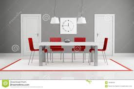 Red Dining Room by Gray And Red Dining Room Stock Photography Image 18498182