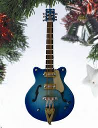 broadway gifts co ogc12n navy blue electric guitar hanging ornament