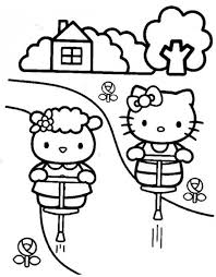 158 kitty coloring pages images draw
