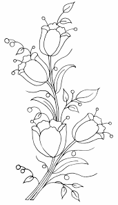 risco tulipas u2026 drawing pinterest patterns embroidery and