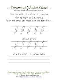 curisve j how to write an j in cursive cursive alphabet chart
