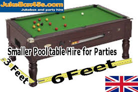 3 in one pool table 6 x 3 feet pool table party one night day hire uk tel 01604