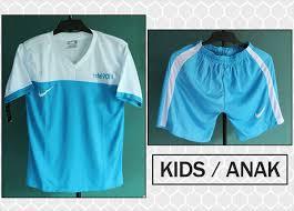 Baju Gambar Nike kostum kaos setelan anak nike t90 iii birumuda putih olahraga grosir