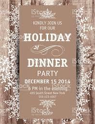 wood snowflake christmas dinner invitation template stock vector