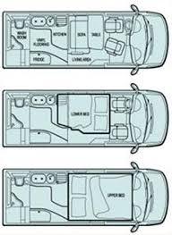 Sprinter 5th Wheel Floor Plans 158 Best Rvs Images On Pinterest Sprinter Camper Conversion Van