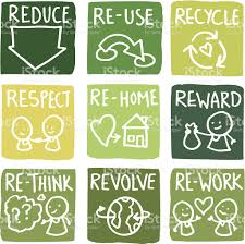 reduce reuse and recycle block icon set stock vector art 455597351