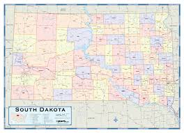 Map South Dakota South Dakota Counties Wall Map Maps Com