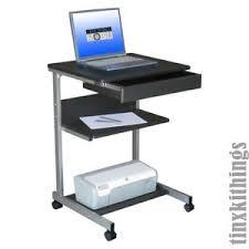 Portable Computer Desk Rolling Portable Computer Desk Mobile Work Station Laptop Printer