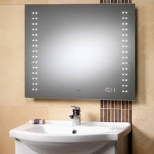 Bathroom Mirror With Clock Genesis Discovery Mirror 700 X 600 Led Lights Led Clock