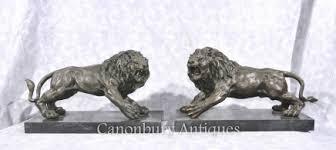 statue lions bronze lions and cats canonbury antiques