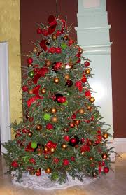 traditional christmas trees decorated beautiful decorated