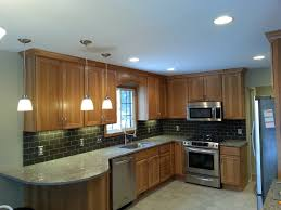 Kitchen Backsplashes 2014 Delighful Kitchen Backsplash Hickory Cabinets Black Countertops