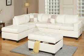 White Leather Storage Ottoman White Leather Ottoman With Storage Guernsey Bench Faux